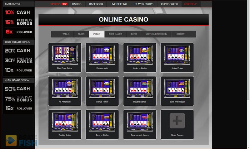 Wagerweb Video Poker