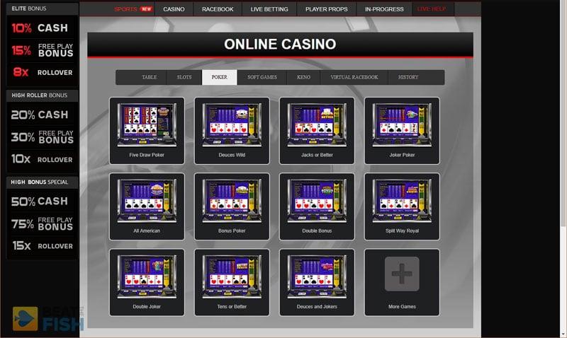 Wagerweb Video Poker