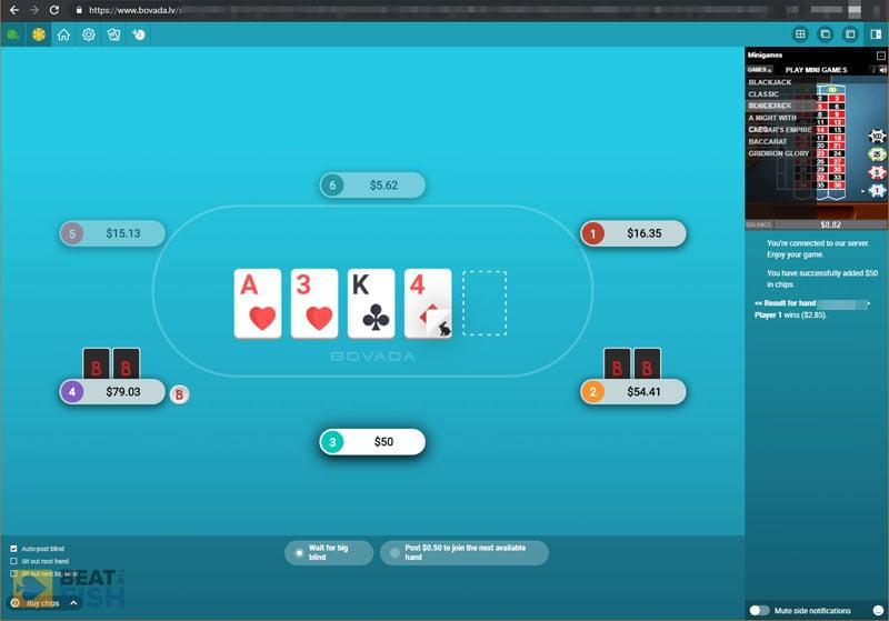 Bovada Poker on Linux using Chrome
