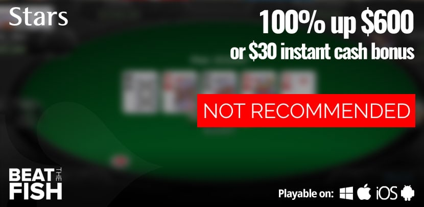 PokerStars is Currently Not Recommended