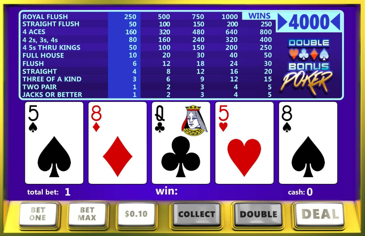 Slotland Casino video poker.