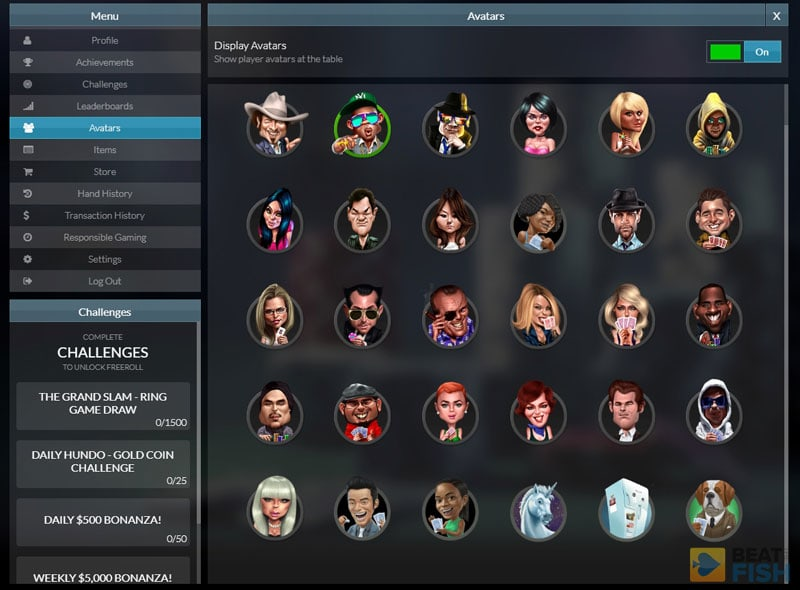 Global Poker Avatars