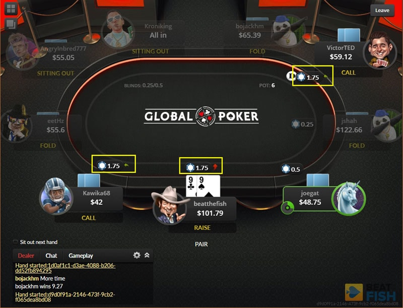 Global Poker Software for Cash Tables