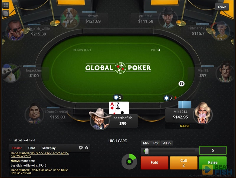 Global Poker No-Deposit Bonus