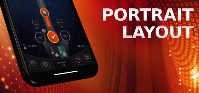 Partypoker Mobile App Portrait Orientation