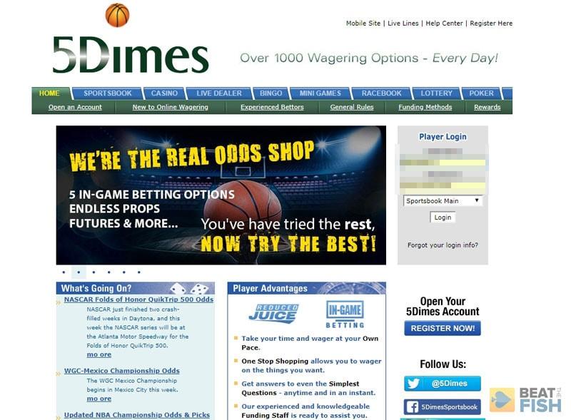 betting limits 5dimes
