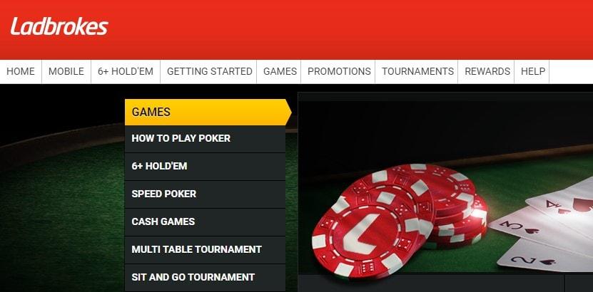 Ladbrokes Online Poker Website