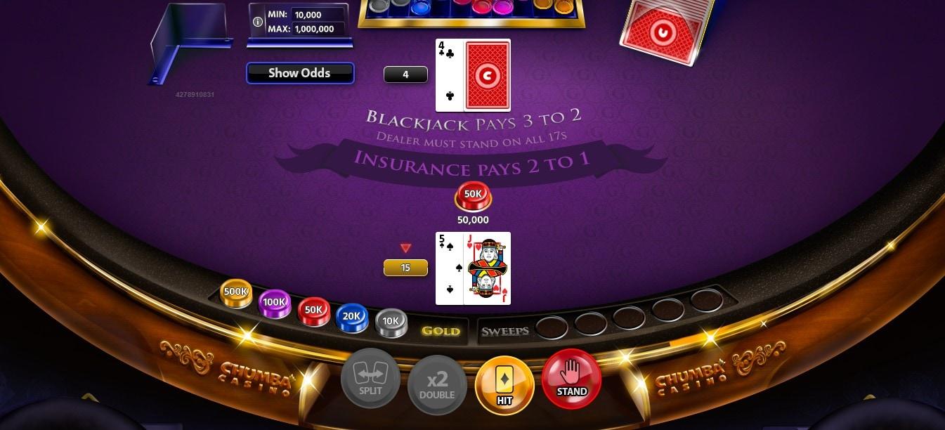 Chumba Casino Blackjack Gameplay