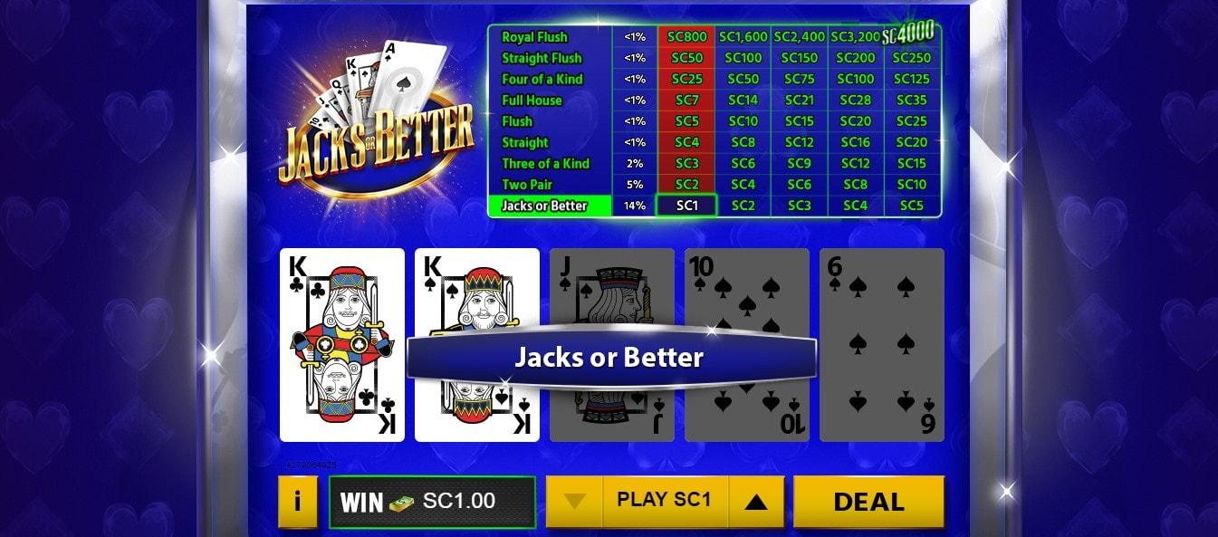 Chumba Casino Jacks or Better Gameplay