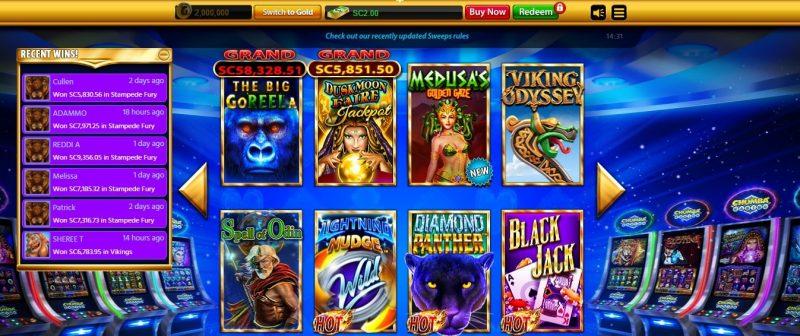 Chumba Casino Slots Selection