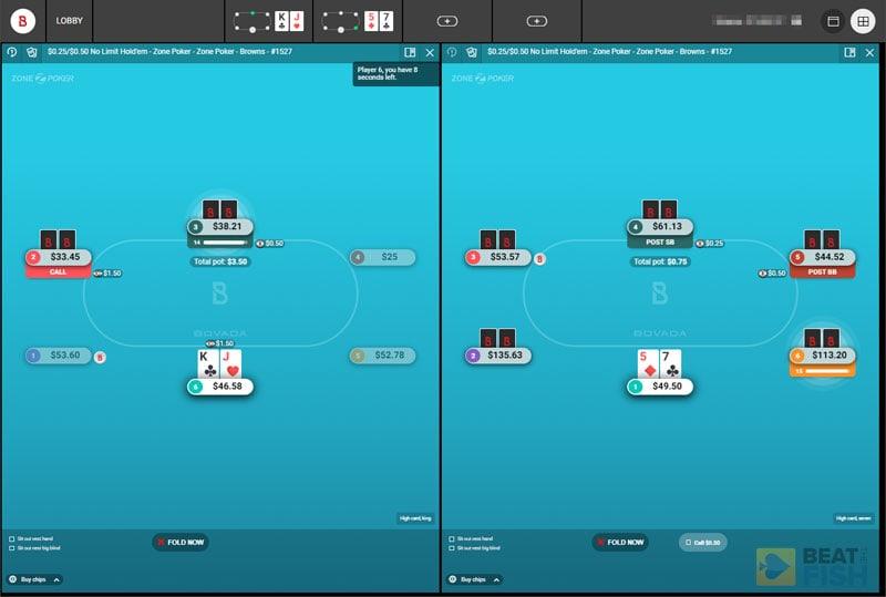 Bovada Zone Poker Multitabling