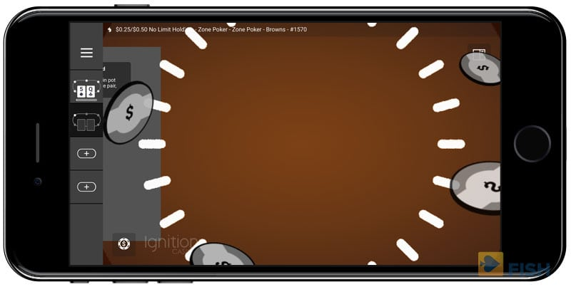 Winning Hand with Ignition on iPhone