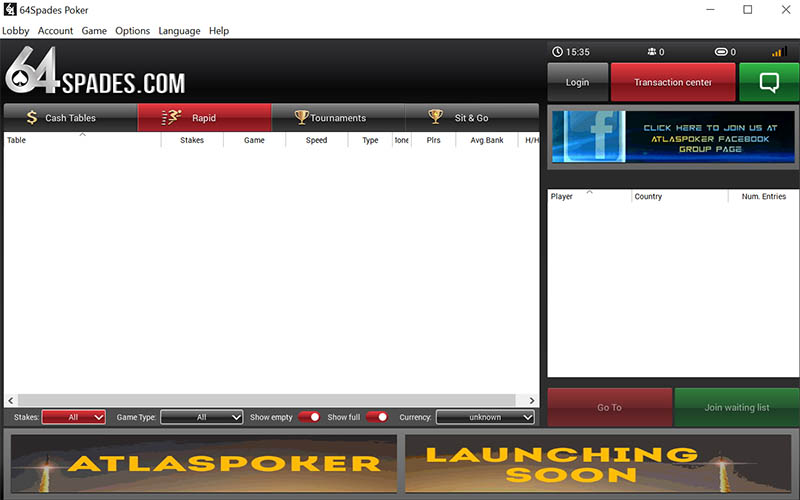 64Spades Name Change to Atlas Poker