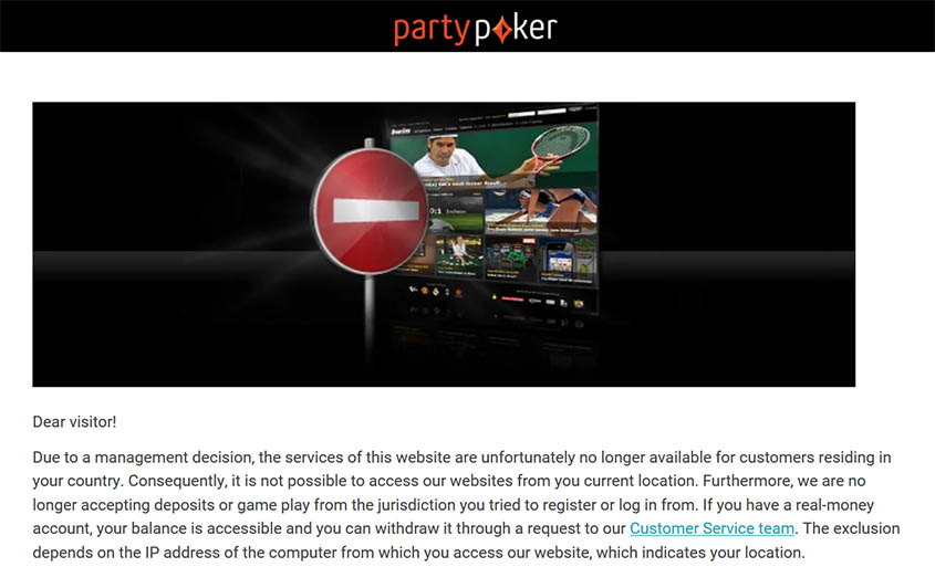 PartyPoker withdraws from Australia online poker market.