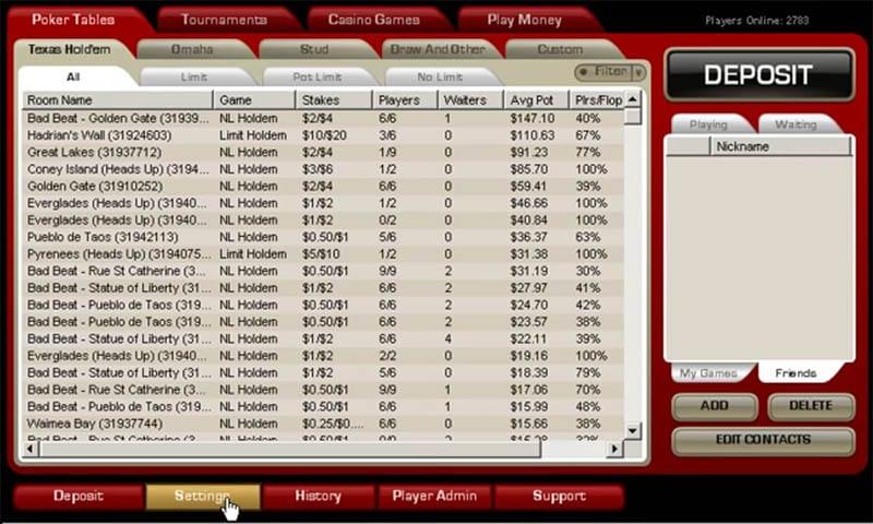 PokerHost Lobby