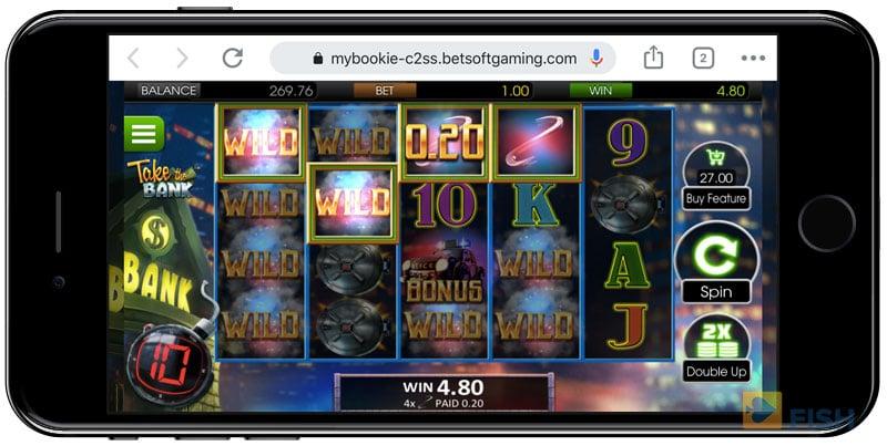 MyBookie Slots on Mobile