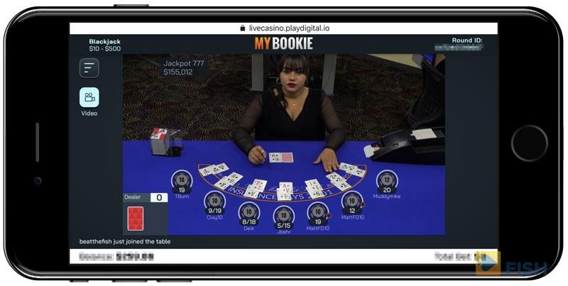 Live Casino Dealers on Mybookie App