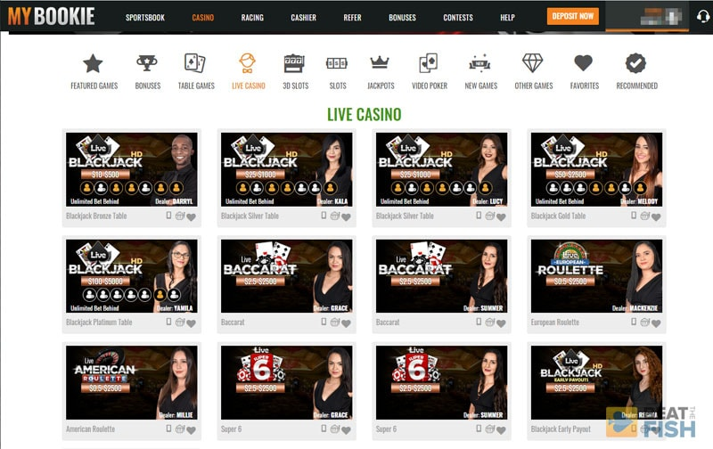 MyBookie Casino Live Dealers