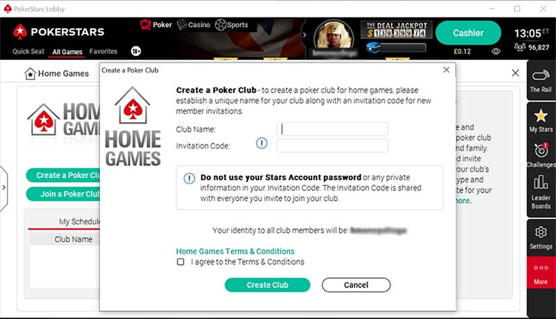 PokerStars Club Home Games