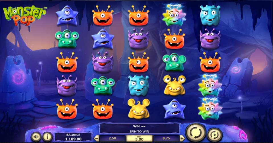 Monster Pop slot from Super Slots