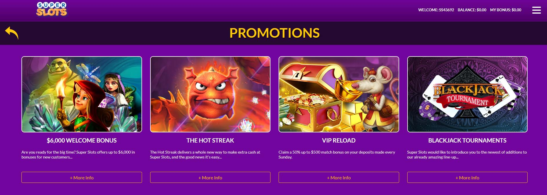 Super Slots Online Casino Promotions
