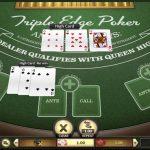 Triple Edge Poker table game at Super Slots Casino