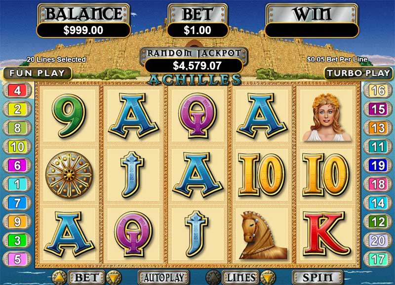 Achilles RealTime Gaming slot