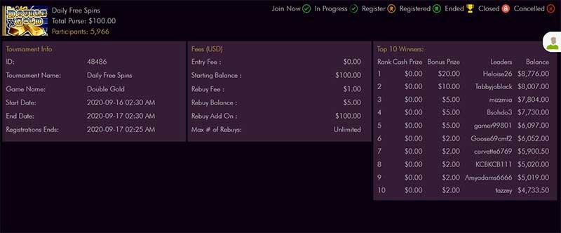 miami club freeroll tournament payouts