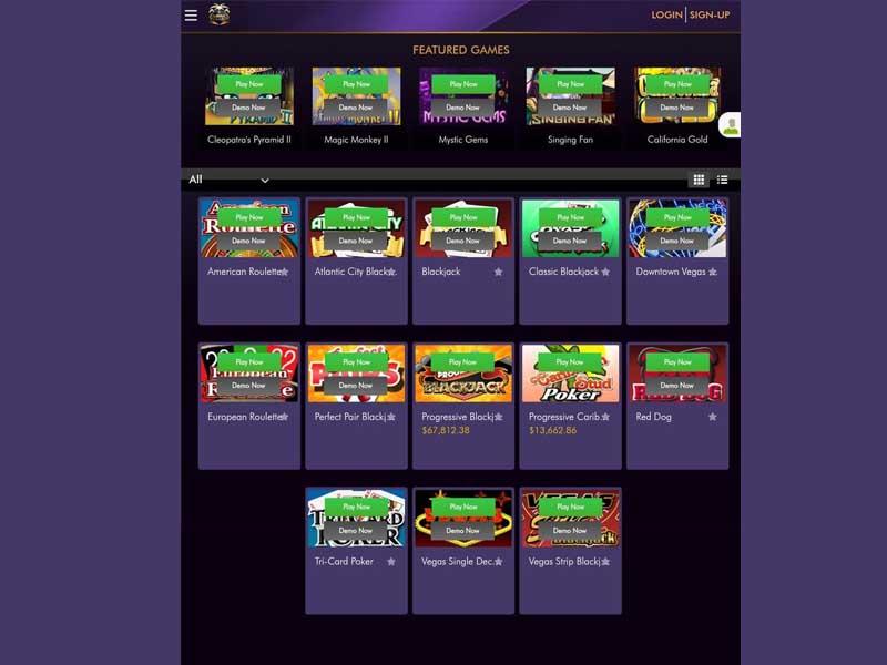 miami club casino mobile lobby
