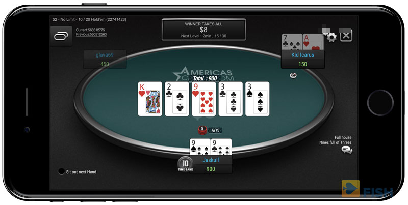 Jackpot Tournaments on Americas Cardroom Mobile