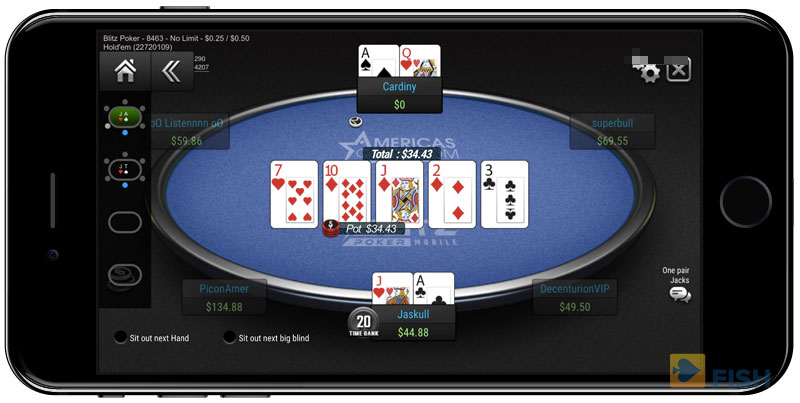 Cash Game on ACR using iPhone