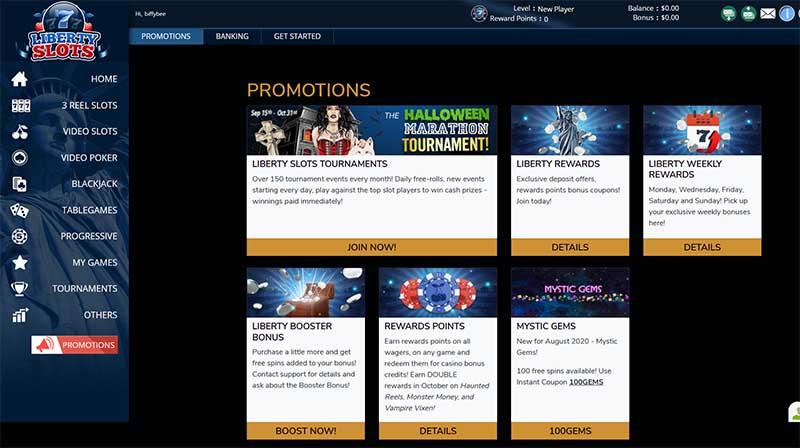 casino bonuses at liberty slots