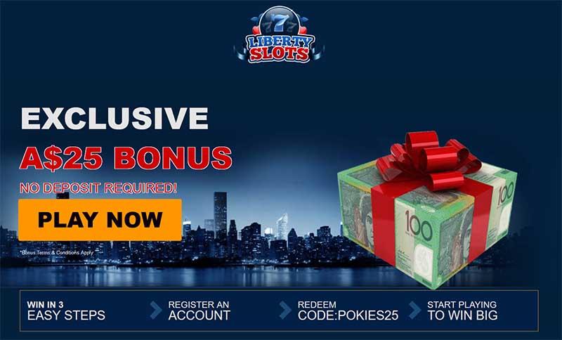No deposit bonus liberty slots
