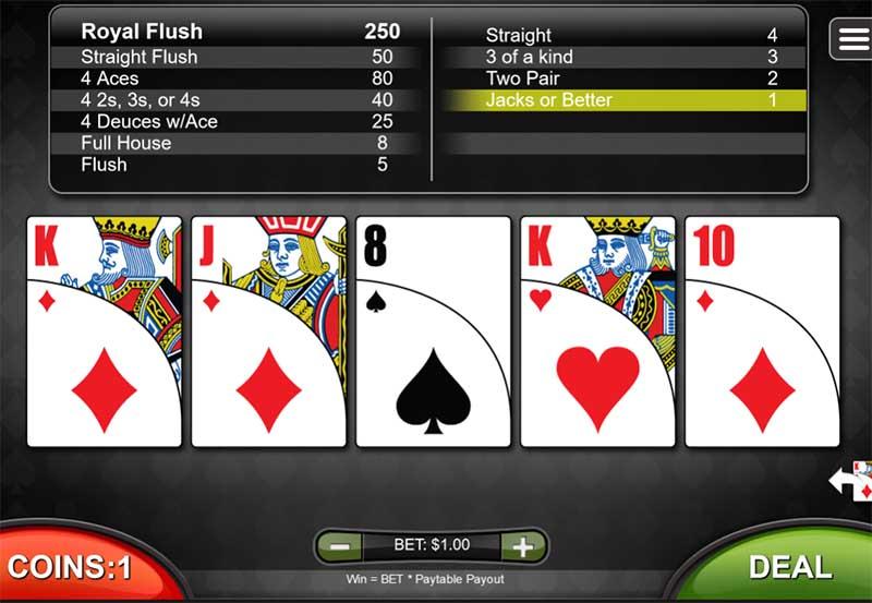 Platinum Reels Video Poker