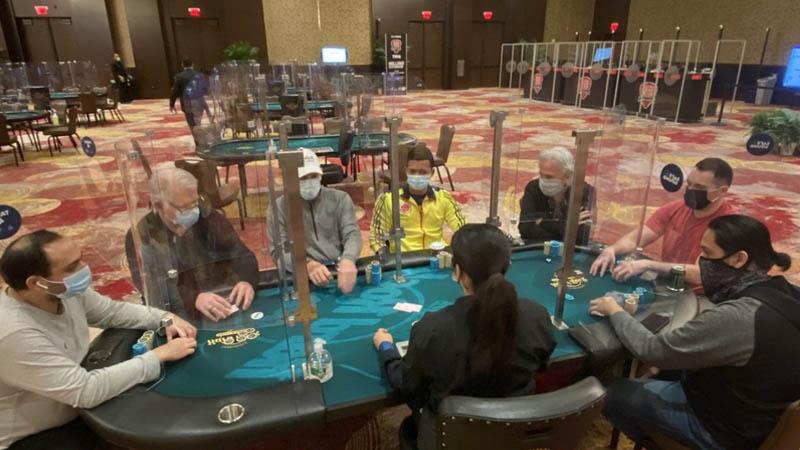 Lucky Hearts Poker Open social distancing