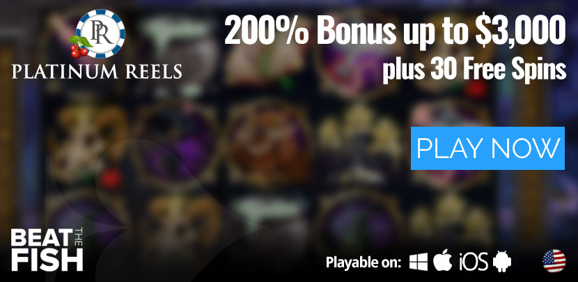 Play Now at Platinum Reels Casino