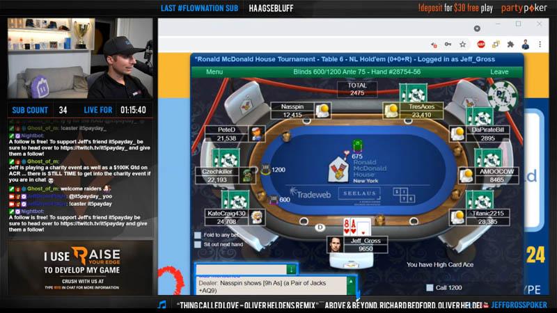 Jeff Gross Poker Twitch Channel