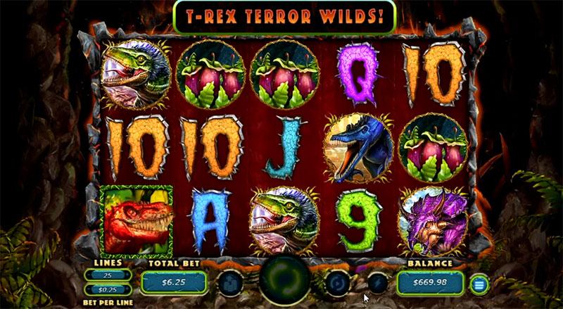 Megasaur Slot Game at Red Dog