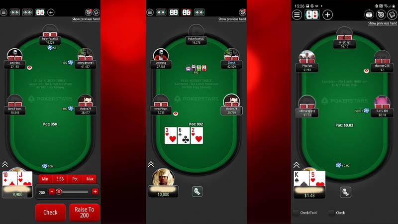 PokerStars App Mobile Portrait Mode